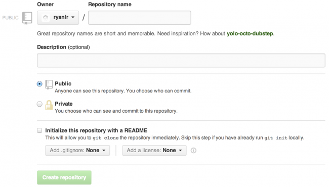 github-create-a-repository
