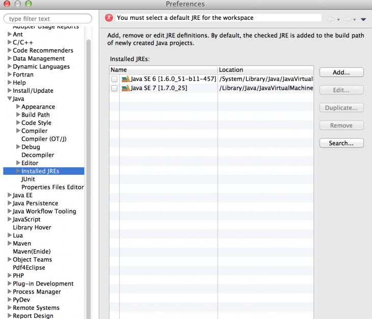 Configure Kepler Eclipse for Java 8 on Mac