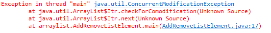 java-util-concurrentModificationException